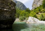 Crystal waters of Valbona river