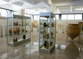 Inside the archeological museum