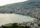Aerial view of Saranda
