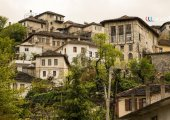 Inside the city of Gjirokastra