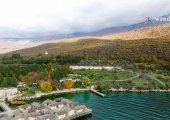 Aerial view of Ohrid Lake